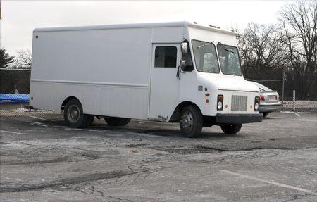 white panel truck