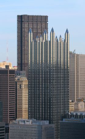 Part of the Pittsburgh Skyline Stock Photo