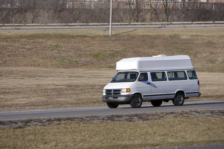 van on the highway