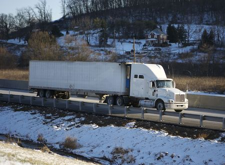 Tractor Trailer on the Highway Stock Photo - 340073
