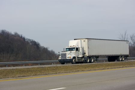 Tractor Trailer on the Highway Stock Photo - 340034