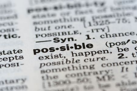 feasible: Possible Definition Stock Photo