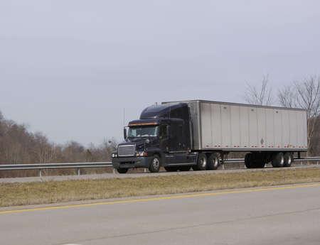 Semi Truck on the Highway Stock Photo - 346575