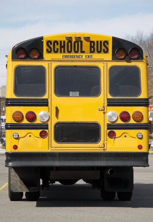 School Bus Back View Stock Photo - 346561