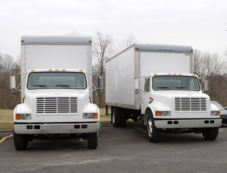 Two Delivery Trucks Stock Photo