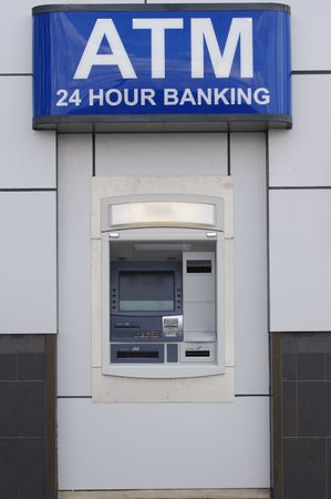 automatic teller: ATM Machine Stock Photo