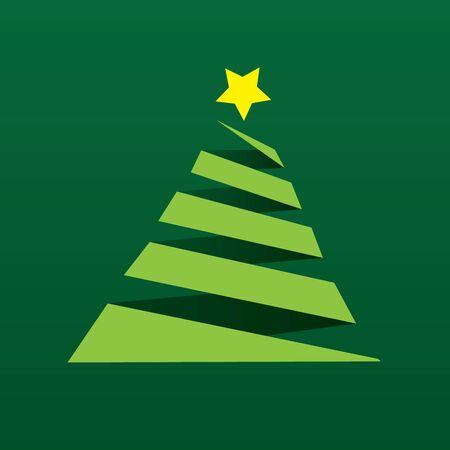 fur tree ornament: christmas tree   paper background Illustration