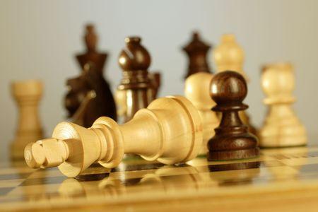 Schachmatt: Checkmate Lizenzfreie Bilder