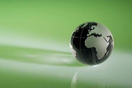 Globe showing the world Stock Photo