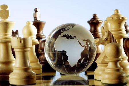 Globe and chess game