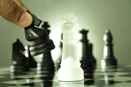 Chess game-Checkmate Фото со стока