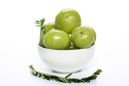 gooseberries: Fresh gooseberries Stock Photo