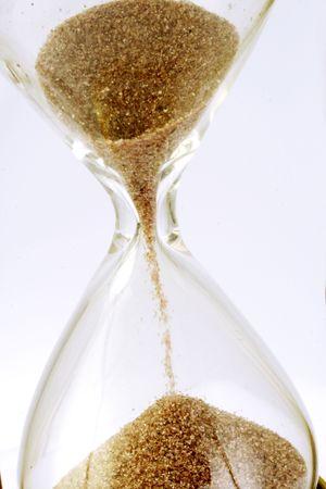 Hourglass close up shot