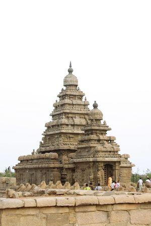 mamallapuram: A famous shore temple in Mamallapuram,India