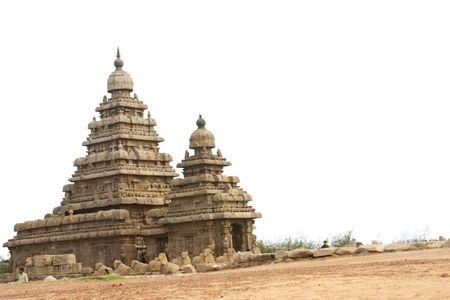 mamallapuram: Historical shore temple at Mamallapuram,India