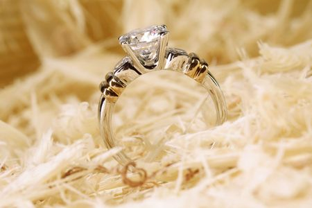 Close up of a beautiful wedding ring