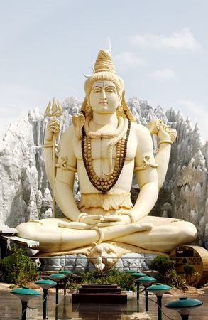 deities:  Hindu god lord shiva statue in Bangalore,India