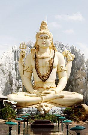 deity:  Hindu god lord shiva statue in Bangalore,India