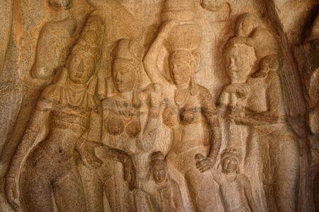 tamilnadu: Indian sculpture -Mamallapuram,Tamilnadu