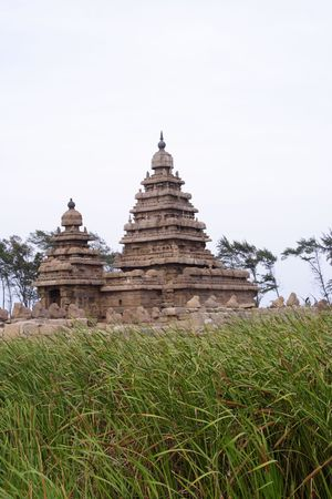 mamallapuram: Famous shore temple in Mamallapuram,India Stock Photo