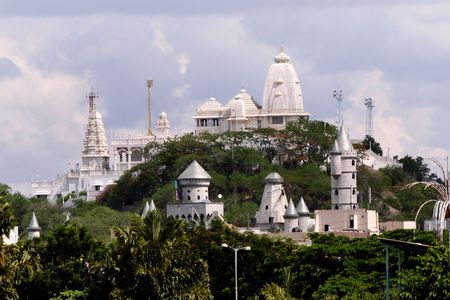 hyderabad: Lord Balaji temple in Hyderabad,India Stock Photo