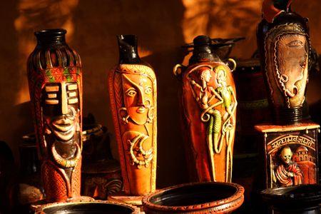 Indian pottery Фото со стока