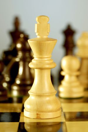 Close up of a chess king