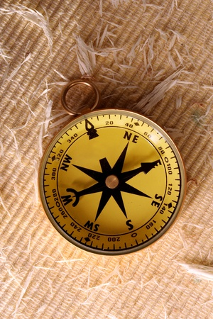 Antique golden compass