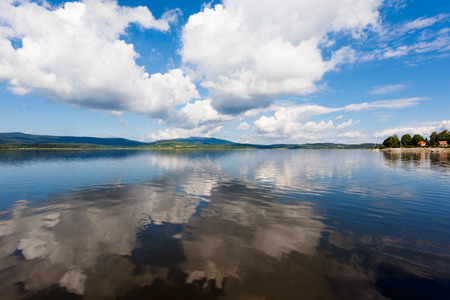 lipno: View of the artificial lake of Lipno in the Czech Republic