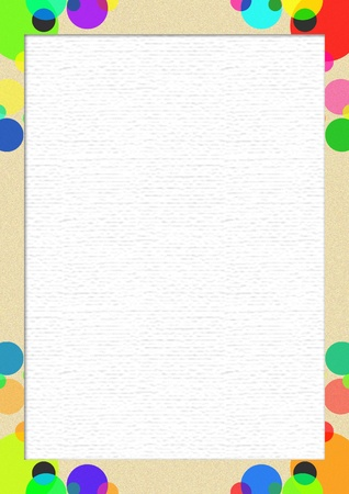 rectangular: white paper with colorful frame