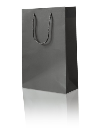 black paper bag for shopping activity photo