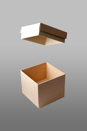 paper box image in isolated background photo
