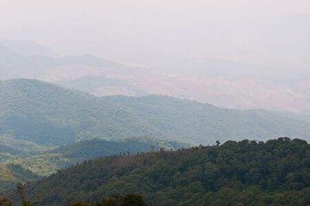 beautiful view at doi suthep, chiangmai, Thailand photo