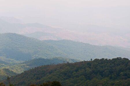 beautiful view at doi suthep, chiangmai, Thailand photo