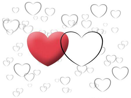 wedding celebration with love heart image Stock Photo - 17815615