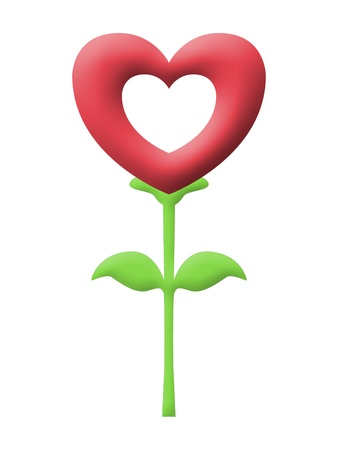red heart flower image  Stock Photo - 17815611
