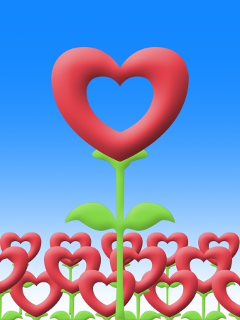 flower of love image Stock Photo - 17815623