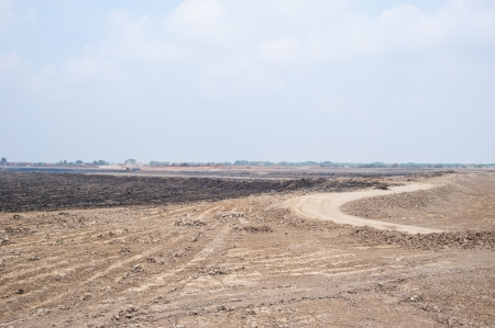 reclamation: land reclamation for property development under daytime