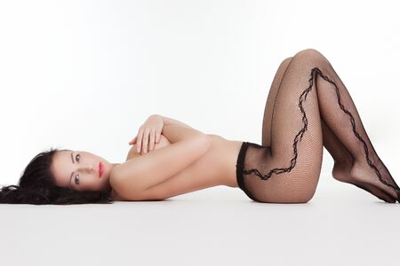 black stockings: Woman with tights