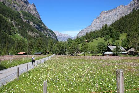 moutains: Kandersteg landscape view