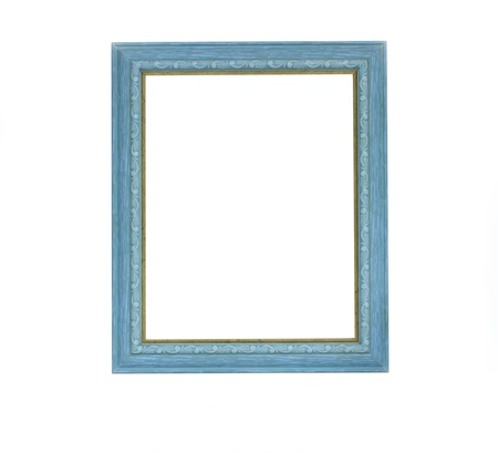 picture frame on wall: Green color picture frame  Stock Photo