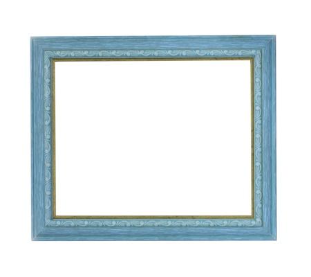 青い色の額縁 写真素材