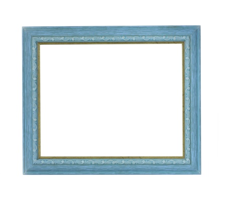 Blue color picture frame