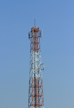transference: Communications Tower  Stock Photo