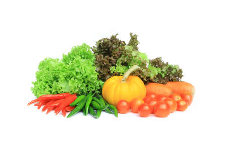 fresh vegetables isolate on white background  photo