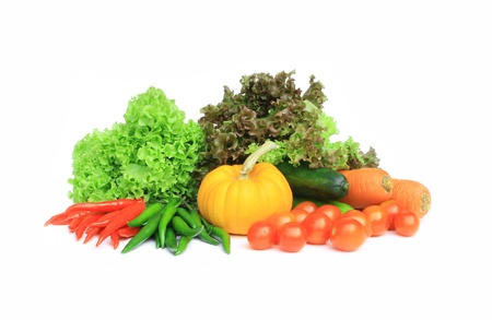 fresh vegetables isolate on white background  Stock Photo