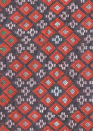 ancient thai woven cloth  photo