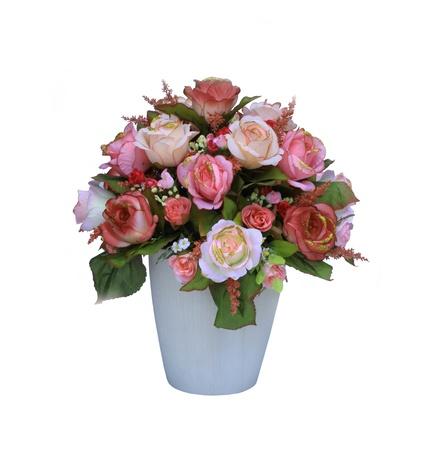 Colorful arrangement de fleurs artificielles sur fond blanc Banque d'images - 13105174