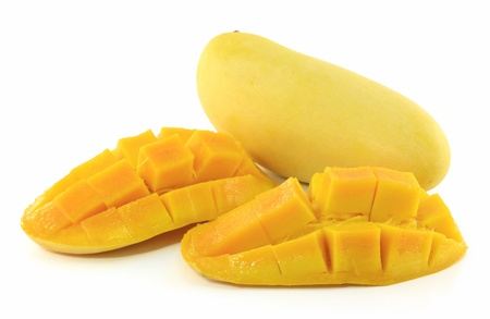 mangoes isolated on a white background photo