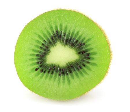 Kiwi fruit isolated on white backgroun photo